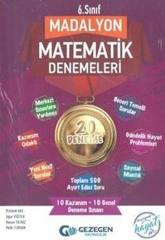 Gezegen Yayınları 6. Sınıf Madalyon 20li Matematik Denemeleri