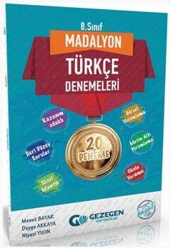 Gezegen Yayınları 8. Sınıf Türkçe Madalyon 20 li Denemeleri