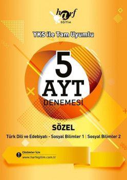 Harf Yayınları YKS 2. Oturum AYT Sözel 5 Deneme