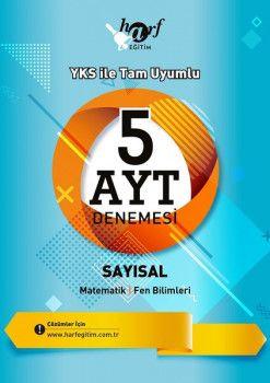 Harf Yayınları YKS 2. Oturum AYT Sayısal 5 Deneme