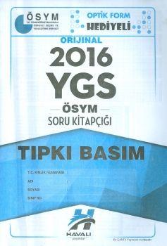 Havalı Yayınları YGS 2016 Tıpkı Basım ÖSYM Soru Kitapçığı