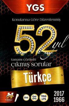Havalı Yayınları YGS Türkçe 52 Yıl Tamamı Çözümlü Çıkmış Sorular