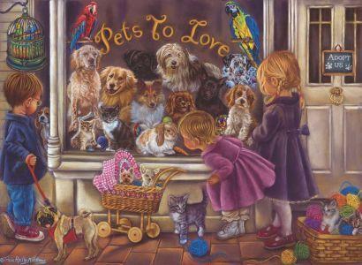Hayvan Sevgisi Pets to Love 1000 Parça Yapboz
