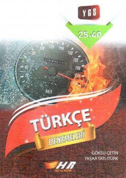 Hız ve Renk Yayınları YGS Türkçe Hız ve Renk Denemeleri 25X40