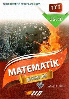 Hız ve Renk Yayınları YKS 1. Oturum TYT Matematik Denemeleri 25X40