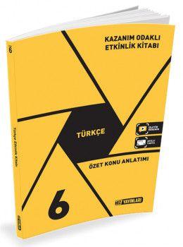 Hız Yayınları 6. Sınıf Türkçe Kazanım Odaklı Etkinlik Kitabı
