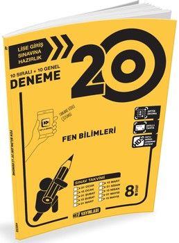 Hız Yayınları 8. Sınıf LGS Fen Bilimleri 20 li Deneme
