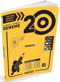 Hız Yayınları 8. Sınıf LGS Türkçe 20 li Deneme
