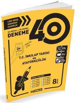 Hız Yayınları 8. Sınıf LGS T.C. İnkılap Tarihi ve Atatürkçülük 40 lı Deneme