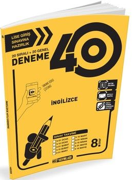 Hız Yayınları 8. Sınıf LGS İngilizce 40 lı Deneme