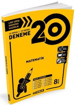 Hız Yayınları 8. Sınıf LGS Matematik 20 Deneme