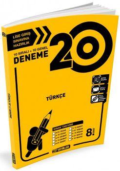 Hız Yayınları 8. Sınıf LGS Türkçe 20 Deneme