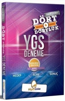 Hiper Zeka Yayınları YGS Tamamı Çözümlü Dört Dörtlük Deneme