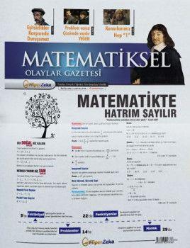 Hiper Zeka Yayınları Tüm Sınavlar İçin Matematiksel Olaylar Matematik Gazetesi