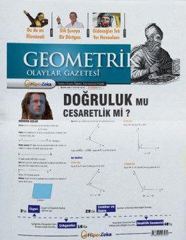 Hiper Zeka Yayınları Tüm Sınavlar İçin Geometrik Olaylar Geometri Gazetesi