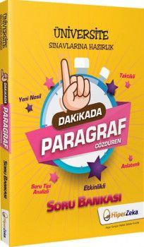 Hiper Zeka Yayınları Üniversite Sınavlarına Hazırlık 1 Dakikada Paragraf Çözdüren Soru Bankası