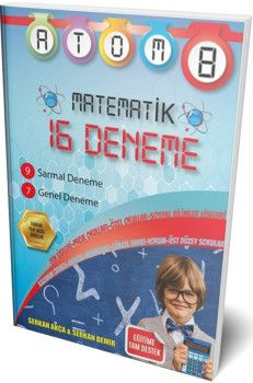 Hiper Zeka Yayınları 8. Sınıf Matematik Atom 16 Deneme