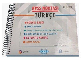 HMC Yayınları 2020 KPSS Noktası Türkçe Poster Ders Notları