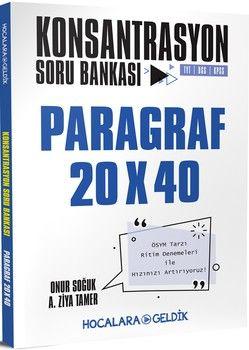 Hocalara Geldik Paragraf Konsantrasyon 20x40 Soru Bankası  