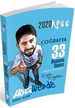 Hocawebde Yayınları 2020 KPSS Coğrafya 33 Deneme