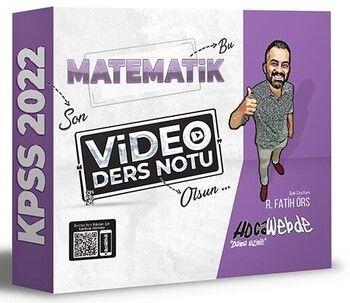 HocaWebde Yayınları 2022 KPSS Matematik Video Ders Notu