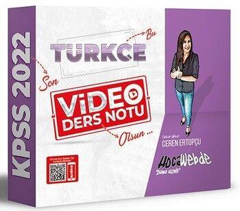 HocaWebde Yayınları 2022 KPSS Türkçe Video Ders Notu