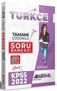 HocaWebde Yayınları 2022 KPSS Türkçe Tamamı Çözümlü Soru Bankası