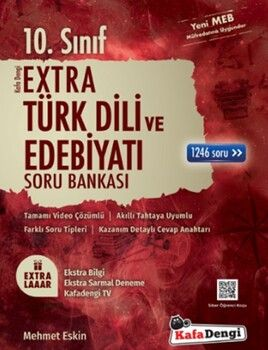 Kafa Dengi Yayınları 10. Sınıf Türk Dili ve Edebiyatı Extra Soru Bankası