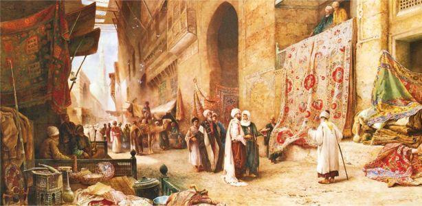 Kahire\'de Halı Pazarı A Carpet Sale İn Cairo 1500 Parça Yapboz