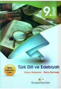 Kampüs Yayınları 9. Sınıf Türk Edebiyatı Dil ve Anlatım Konu Anlatımlı Soru Bankası