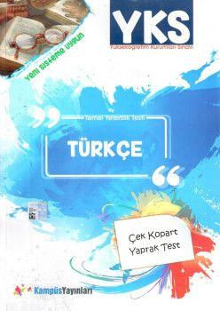 Kampüs Yayınları YKS 1. Oturum TYT Türkçe Çek Kopart Yaprak Test