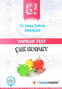 Kampüs Yayınları 8. Sınıf T.C. İnkılap Tarihi ve Atatürkçülük Çek Kopart Yaprak Test