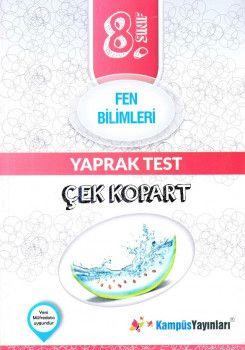 Kampüs Yayınları 8. Sınıf Fen Bilimleri Çek Kopart Yaprak Test