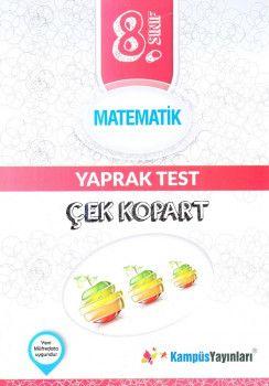 Kampüs Yayınları 8. Sınıf Matematik Çek Kopart Yaprak Test
