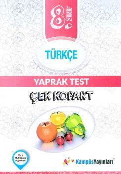 Kampüs Yayınları 8. Sınıf Türkçe Çek Kopart Yaprak Test