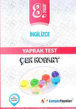 Kampüs Yayınları 8. Sınıf İngilizce Çek Kopart Yaprak Test