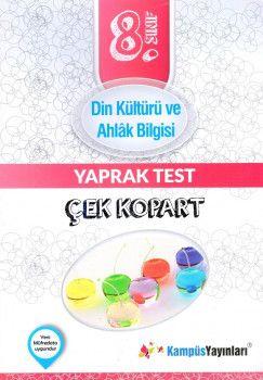 Kampüs Yayınları 8. Sınıf Din Kültürü ve Ahlak Bilgisi Çek Kopart Yaprak Test