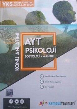 Kampüs Yayınları AYT Psikoloji Sosyoloji Mantık Konu Anlatım