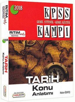 Kamu Park Yayınları 2018 KPSS Genel Yetenek Genel Kültür Kampı Tarih Konu Anlatımı
