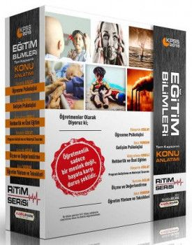 Kamu Park Yayınları 2018 KPSS Eğitim Bilimleri Tam Kapsamlı Ritim Serisi Konu Anlatımlı Modüler Set