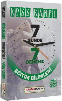 Kamu Park Yayınları KPSS Kampı Eğitim Bilimleri Tamamı Çözümlü 7 Günde 7 Deneme