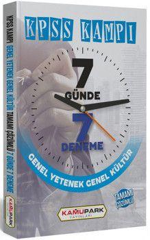 Kamu Park Yayınları KPSS Genel Yetenek Genel Kültür Tamamı Çözümlü 7 Günde 7 Deneme