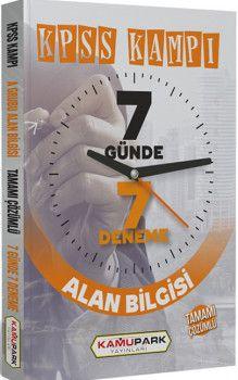 Kamu Park Yayınları KPSS A Grubu Alan Bilgisi Tamamı Çözümlü 7 Günde 7 Deneme