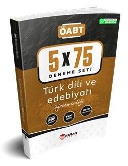 Kaplan Akademi 2021 ÖABT Türk Dili ve Edebiyatı Öğretmenliği 5 x 75 Deneme Tamamı PDF Çözümlü