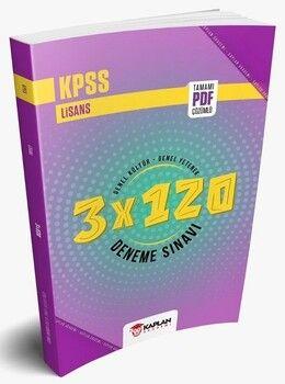 Kaplan Akademi 2021 KPSS Lisans Genel Yetenek Genel Kültür Türkiye Geneli 3 x 120 Deneme