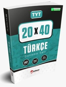 Kaplan Akademi TYT Türkçe PDF Çözümlü 20x40 Deneme Seti