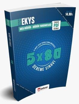 Kaplan Akademi Yayınları 2020 EKYS MEB Okul Müdür ve Müdür Yardımcılığı 5x80 Tamamı PDF Çözümlü 5 Deneme Sınavı