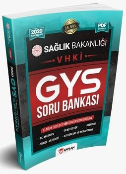 Kaplan Akademi Yayınları 2020 GYS Sağlık Bakanlığı VHKİ Unvanı Görevde Yükselme Sınavı Tamamı PDF Çözümlü Soru Bankası