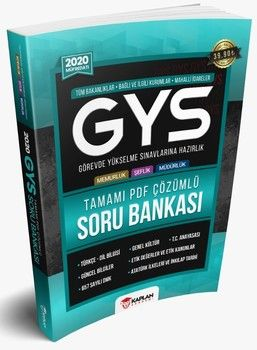 Kaplan Akademi Yayınları 2020 GYS Tüm Kurumlar İçin Tamamı PDF Çözümlü Görevde Yükselme Sınavı Soru Bankası