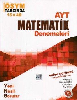Karaağaç Yayınları AYT Matematik Denemeleri